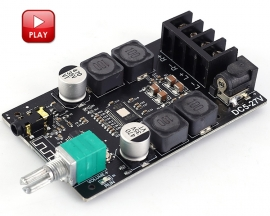 50W+50W HIFI Bluetooth Audio Stereo Module BLE5.0 TPA3116 AUX Digital Amplifier Module ZK-502C