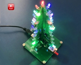 DIY Kit RGB Flash LED Circuit Colorful Christmas Trees LED Soldering Practice Kits Xmas Fun Gift DC 4.5V-5.5V