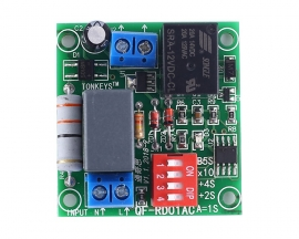 AC 110V 220V 70s Delay Relay Module Adjustable Power ON-OFF Delay Circuit Board