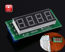 DC 5V 12V 36V Trigger Counter Module Accumulator 0.56inch 4-Bit Red Digital Tube Display