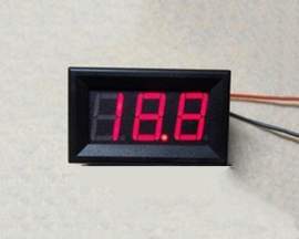 4-30V Red MiNi LED Auto Car Truck Voltmeter Panel Meter
