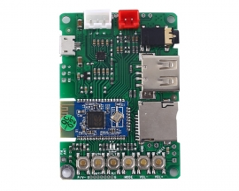 BK3254 Bluetooth Power Amplifier BLE4.1 Stereo Audio Receiver Module AUX Input Support U-disk TF Card