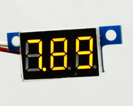 Yellow LED Panel Meter Digital Voltmeter DC 0-99.9V