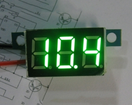 Green LED Panel Meter Digital Voltmeter DC 0-30V