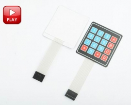4 x 4 Matrix Array 16 Key Membrane Switch Keypad Keyboard