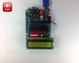 C51 AVR MCU Development Board Microcontroller DIY Learning Board Kit Parts Components