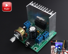 TDA7297 Digital Stereo Audio Amplifier Board Module Dual-Channel Amplifier 15W+15W AC/DC 12V