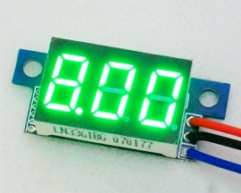 DC 0-9.99V Green LED Panel Meter Digital Voltmeter