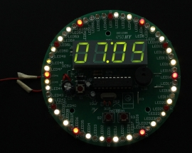 60S Rotary Electronic Clock DIY Kit 4 Digits Digital Clock Colorful Flashing LED Teaching Experiment DIY Kits