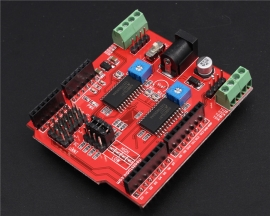 Dual Step Motor Driver Shield for Arduino