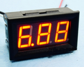 Red LED Panel Meter DC 0 To 10A Mini Digital Ammeter with Box