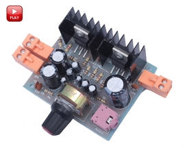 2.0 Double Channel TDA2030A Amplifier DIY Kit Board AC/DC Power Supply Module DIY Amplifier Board Module