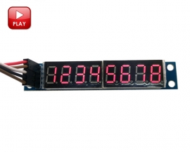MAX7219 8-Digit Red LED Display Module 7 Segment Digital LED Display Tube for MCU