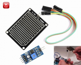Rain Raindrops Rainwater Weather Humidity Detection Sensor Module 3.3V-5V for Arduino