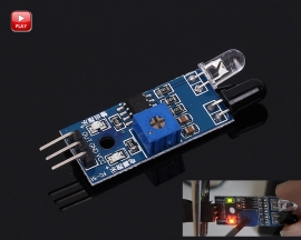 Obstacle Avoidance Infrared Sensor Module Reflection Photoelectric Sensor Board for Tracking Smart Car
