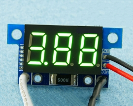 Green LED Panel Meter DC 0 To 5A Mini Digital Ammeter