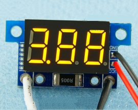 Yellow LED Panel Meter DC 0 To 5A Mini Digital Ammeter