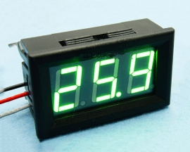 Green LED Panel Meter Digital Voltmeter DC 0-30V with box