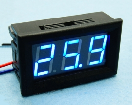 Blue LED Panel Meter Digital Voltmeter DC 0-30V with box