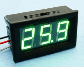 Green LED Panel Meter Digital Voltmeter DC 0-200V with box