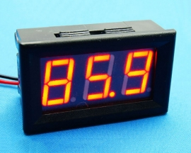 Red LED Panel Meter Digital Voltmeter DC 5-120V with Box