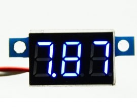 Blue LED Panel Meter Digital Voltmeter DC 0-200V
