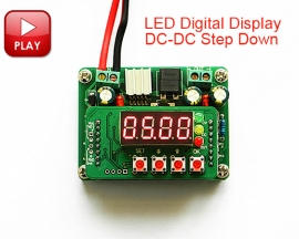 LM2596S DC-DC Step Down LED Digital Display 6V-40V to 0-36V