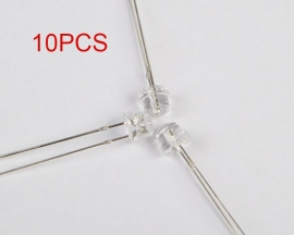 10PCS Straw Hat 5MM Purple LED UV LED Light Emitting Diode