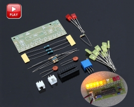 DIY Kit LM3915 Audio Level Indicator Yellow Red LED Light Electronic Soldering Practice Kits