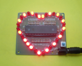DIY Kit Heart-shaped LED Light Water for C51