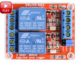 5V 2-Channel Relay Module with Optocoupler H/L Level Triger for Arduino