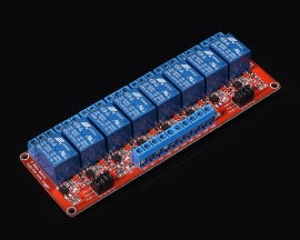 24V 8-Channel Relay Module with Optocoupler H/L Level Triger for Arduino
