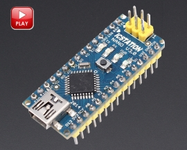 ICStation ATMEGA328 Nano V3.0 Board Compatible with Arduino
