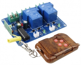 Self-locking Type 12V 2 Channel Wireless Remote Controller Kit