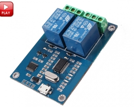 ICStation MICRO USB Control 5V 2-Channel Relay Module ICSE013A