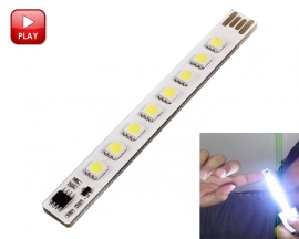 ICStation Portable USB Light Pure White USB Touch Control Light-Dimmer White USB Laptop Lamp