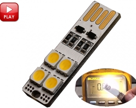 ICStation USB LED Light Warm White 5050 SMD Double-Sided USB Int