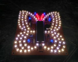 Warm White Blue Flashing LED Music Butterfly Shape Light DIY Kit LED Lighting Lamp Kit for Christmas Gift