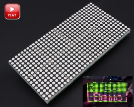 16x32 Dot Matrix Control Display Module DIY Kit Dual-Color Red Green Electronic Funny Kit