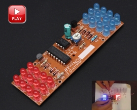 Red Blue Dual Colors Strobe Flashing Flash Lights Lamp DIY Kits Module Learning Suite for Soldering Practice