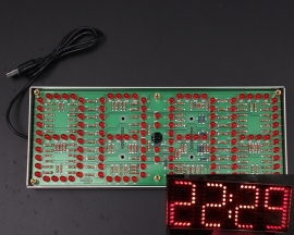 ECL-132 DIY Kit Red Supersized Screen Display Remote Control Clock Kit