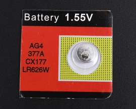AG4 Button batteries  Replace 377A/LR626 Battery 1.55V