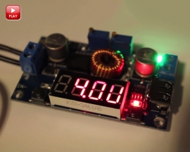 DC-DC 5A LED Drive Lithium Battery Charger Module with Voltmeter Ammeter LED Digit Display