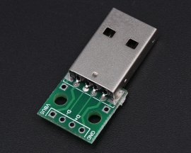 Male A-USB to DIP 4-Pin 2.54 Pinboard
