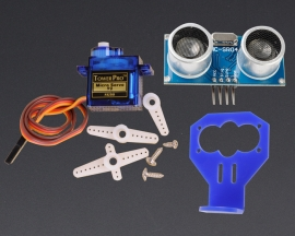 [A103]180 Degree Distance Detection SG90 Servo HC-SR04 w/ Blue Fix Bracket