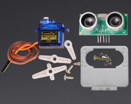 [A104]180 Degree Distance Detection SG90 Servo US-100 w/Fix Bracket