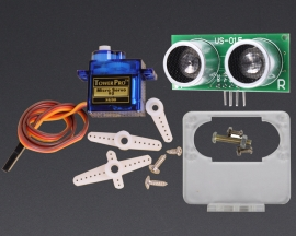 [A105]180 Degree Distance Detection SG90 Servo US-015 w/Fix Bracket