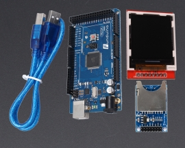 "[A123]1.44"" SPI TFT LCD Display Module w/SD Card Module for Funduino Mega 2560 R3"