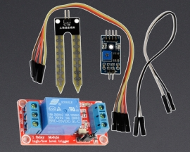 [A137] Soil Moisture Sensor Module + 5V 1-Channel Relay Optocoupler H/L Level Triger