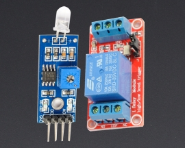 [A138] Photodiode Sensor Module + 5V 1-Channel Relay Optocoupler H/L Level Triger
